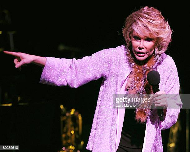 Comedian Joan Rivers performs at the Hard Rock Live at the Seminole Hard Rock Hotel and Casino on March 2 2008 in Hollywood Florida