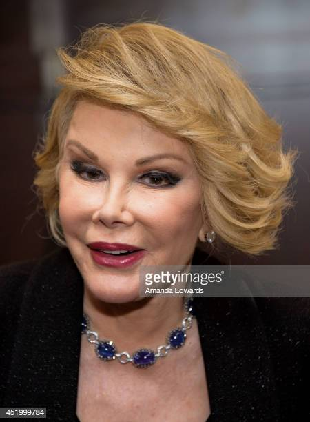 """Comedian Joan Rivers poses before signing copies of her new book """"Diary Of A Mad Diva"""" at Barnes & Noble bookstore at The Grove on July 10, 2014 in..."""