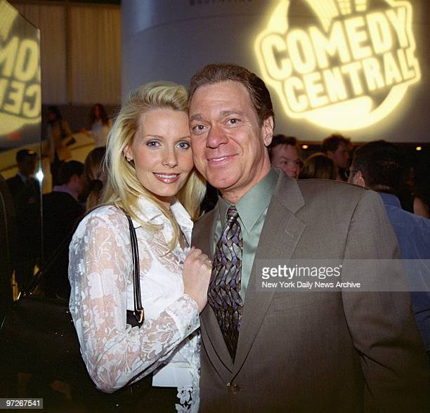 Comedian Joe Piscopo and wife Kimberly put their heads together at Comedy Central's 10th anniversary celebration at Guastavino's restaurant on E 59th...