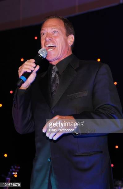 Comedian Joe Piscopo performs at the 26th Anniversary Kids Fight Cancer Fall Gala at Donald E. Stephens Grand Ballroom on October 2, 2010 in...