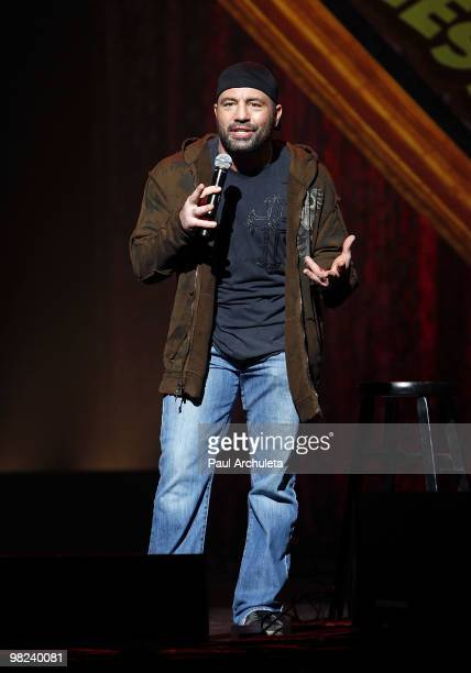Comedian Joe Rogan performs at the Kevin Bean April Foolishness 2010 at Gibson Amphitheatre on April 3 2010 in Universal City California