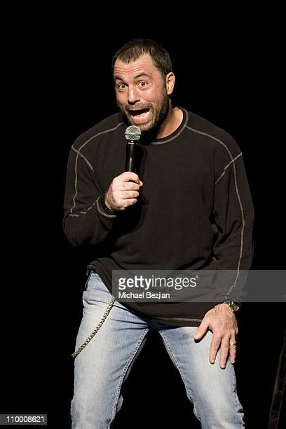 Comedian Joe Rogan performs at the Kevin Bean's April Foolishness at the Gibson Amphitheatre on April 3 2009 in Universal City California