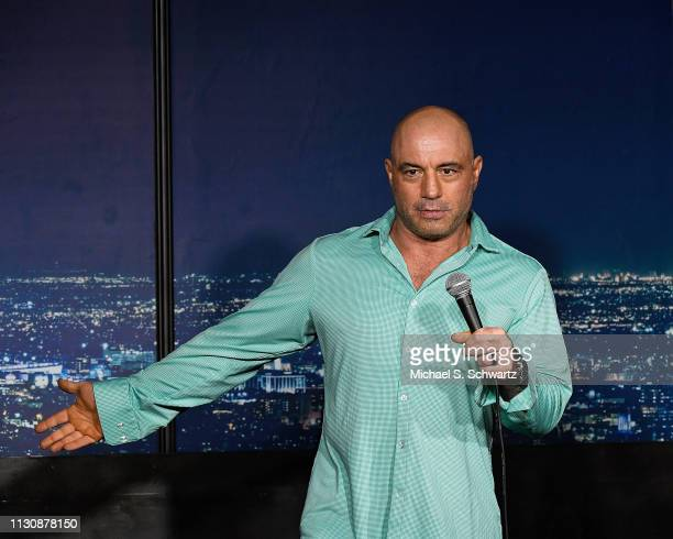 Comedian Joe Rogan performs during his appearance at The Ice House Comedy Club on March 15 2019 in Pasadena California