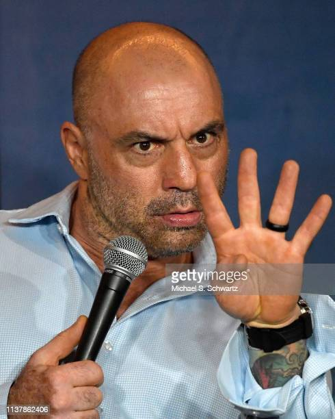 Comedian Joe Rogan performs during his appearance at The Ice House Comedy Club on April 17, 2019 in Pasadena, California.