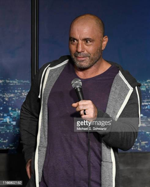 Comedian Joe Rogan performs during his appearance at The Ice House Comedy Club on August 07, 2019 in Pasadena, California.