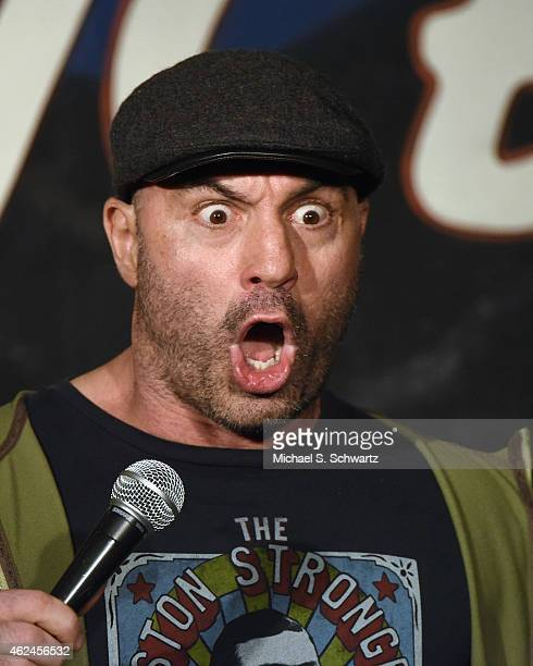 Comedian Joe Rogan performs during his appearance at The Ice House Comedy Club on January 28 2015 in Pasadena California