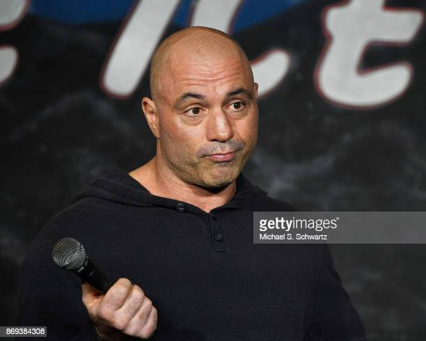 Comedian Joe Rogan performs during his appearance at The Ice House Comedy Club on November 1, 2017 in Pasadena, California.