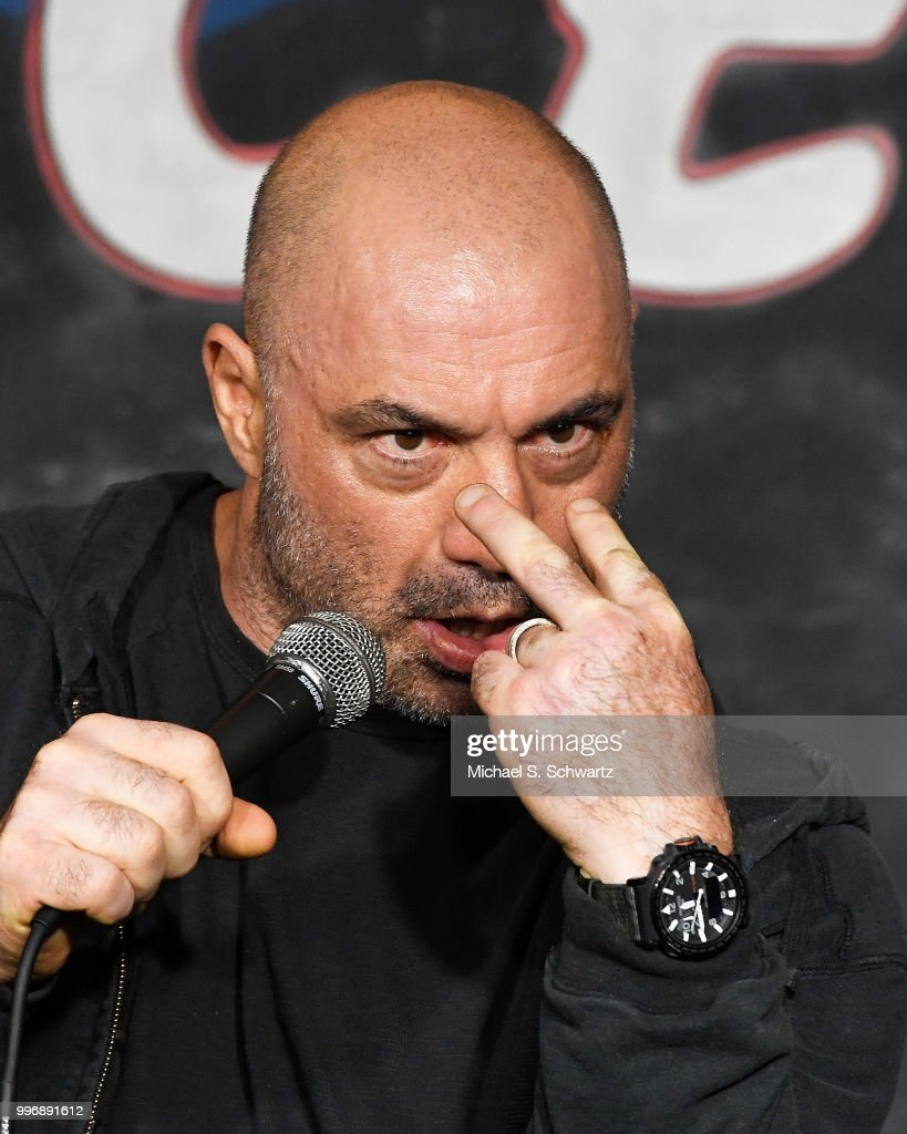 Comedian Joe Rogan performs during his appearance at The Ice House Comedy Club on July 11, 2018 in Pasadena, California.