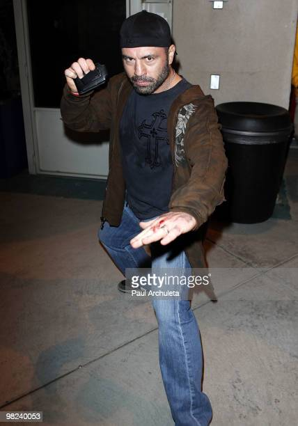 Comedian Joe Rogan poses backstage at the Kevin Bean April Foolishness 2010 at Gibson Amphitheatre on April 3 2010 in Universal City California