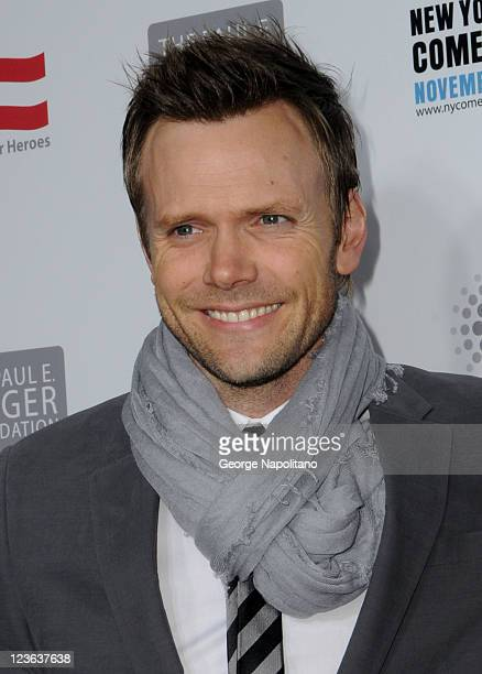 Comedian Joel McHale attends Stand Up For Heroes presented by the New York Comedy Festival and the Bob Woodruff Foundation at The Beacon Theatre on...