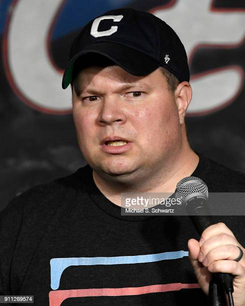 Comedian John Caparulo performs during his appearance at The Ice House Comedy Club on January 27 2018 in Pasadena California