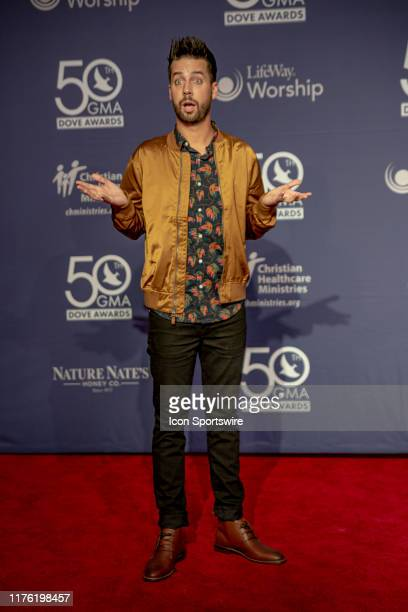 Comedian John Crist on the red carpet for the 50th Annual GMA Dove Awards at Allen Arena Lipscomb University on October 15 2019 in Nashville Tennessee