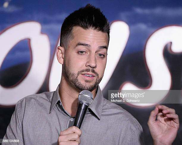 Comedian John Crist performs during his appearance at The Ice House Comedy Club on August 4 2016 in Pasadena California