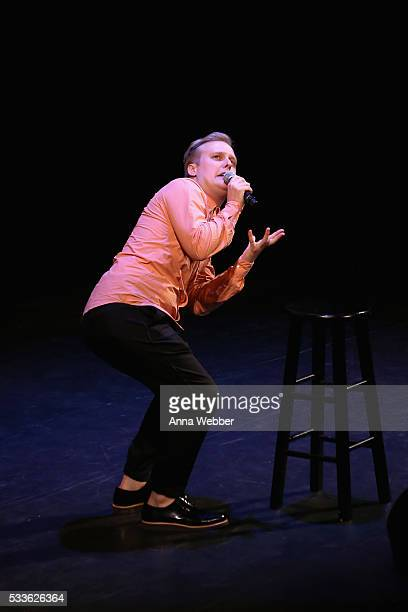 Comedian John Early performs onstage during Vulture Festival presents Sarah Silverman Friends at BAM on May 22 2016 in New York City