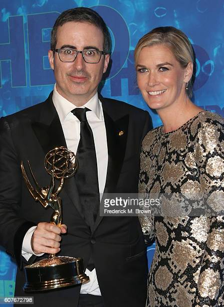 Comedian John Oliver and Kate Norley attend HBO's Official 2016 Emmy After Party at The Plaza at the Pacific Design Center on September 18 2016 in...