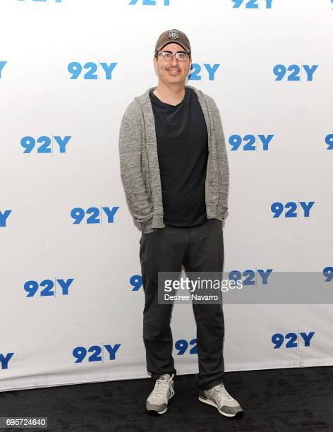 Comedian John Oliver attends 92Y Presents 'Oh Hello On Broadway' at 92nd Street Y on June 13 2017 in New York City