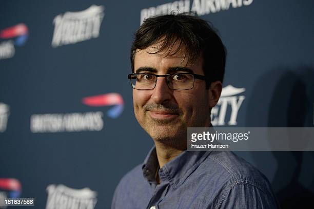 Comedian John Oliver attends British Airways and Variety Celebrate The Inaugural A380 Service Direct from Los Angeles to London and Discover...