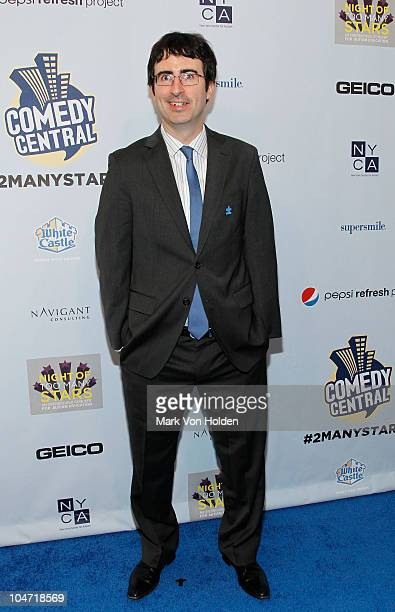 Comedian John Oliver attends Comedy Central's Night Of Too Many Stars An Overbooked Concert For Autism Education at the Beacon Theatre on October 2...