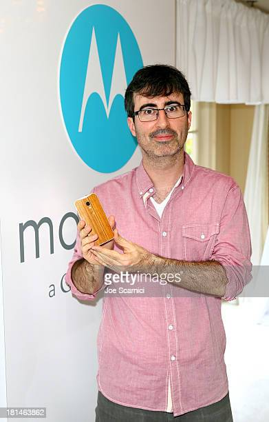 Comedian John Oliver attends HBO Luxury Lounge featuring Motorola and PANDORA Jewelry in honor of The 65th Primetime Emmy Awards at The Four Seasons...