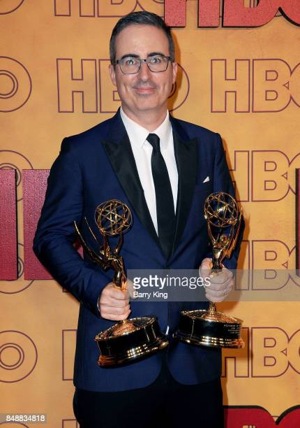 Comedian John Oliver attends HBO's Post Emmy Awards Reception at The Plaza at the Pacific Design Center on September 17 2017 in Los Angeles California