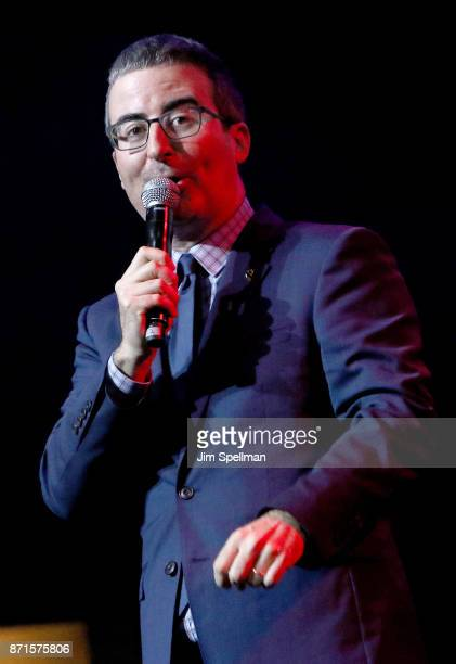 Comedian John Oliver attends the 11th Annual Stand Up for Heroes at The Theater at Madison Square Garden on November 7 2017 in New York City