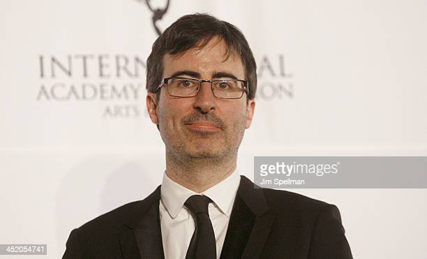 Comedian John Oliver attends the 41st International Emmy Awards at the Hilton New York on November 25 2013 in New York City
