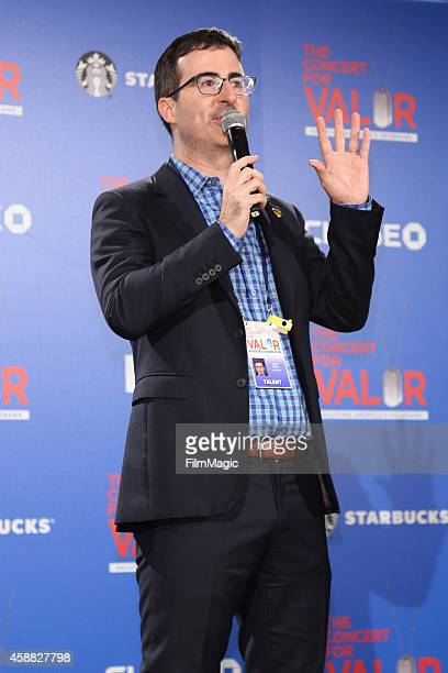 Comedian John Oliver attends 'The Concert For Valor' at The National Mall on November 11 2014 in Washington DC
