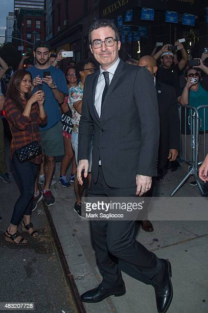 Comedian John Oliver attends the final 'The Daily Show With Jon Stewart' on August 6 2015 in New York City