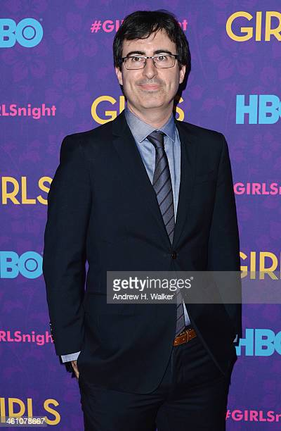 Comedian John Oliver attends the 'Girls' season three premiere at Jazz at Lincoln Center on January 6 2014 in New York City