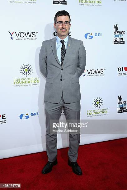 Comedian John Oliver attends The New York Comedy Festival and The Bob Woodruff Foundation present the 8th Annual Stand Up For Heroes Event at The...