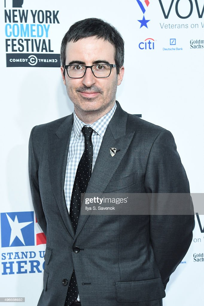 Comedian John Oliver attends the New York Comedy Festival and the Bob Woodruff Foundation's 9th Annual Stand Up For Heroes Event on November 10, 2015 in New York City.