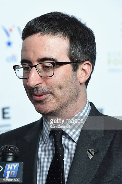 Comedian John Oliver attends the New York Comedy Festival and the Bob Woodruff Foundation's 9th Annual Stand Up For Heroes Event at The Theater at...