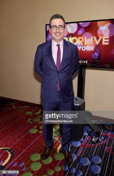 Comedian John Oliver attends The Trevor Project TrevorLIVE NYC 2017 at Marriott Marquis Times Square on June 19 2017 in New York City