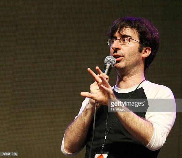 Comedian John Oliver performs in the comedy carnivale during Bonnaroo 2009 on June 13 2009 in Manchester Tennessee