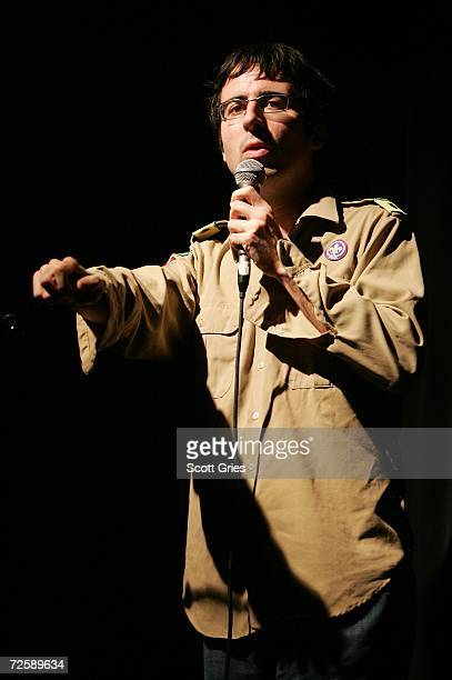 Comedian John Oliver performs onstage during a concert to celebrate the 10 year anniversary of 'The Daily Show With Jon Stewart' at Irving Plaza on...