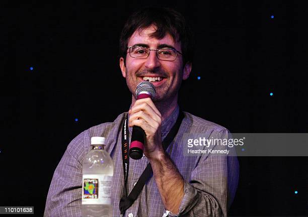 Comedian John Oliver speaks at the 2011 SXSW Music Film Interactive Festival The Nerdist With Chris Hardwick Live Podcast Taping at Esther's Follies...