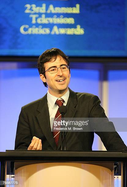 Comedian John Oliver speaks during the 23rd Annual Television Critics Association Awards at the Beverly Hilton Hotel July 21 2007 in Beverly Hills...