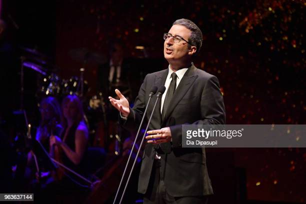Comedian John Oliver speaks onstage during Lincoln Center's American Songbook Gala at Alice Tully Hall on May 29, 2018 in New York City.