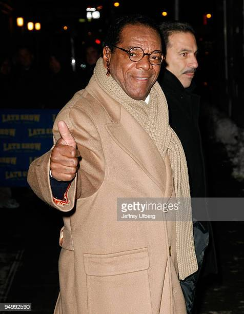 Comedian John Witherspoon visits Late Show With David Letterman at the Ed Sullivan Theater on December 21 2009 in New York City