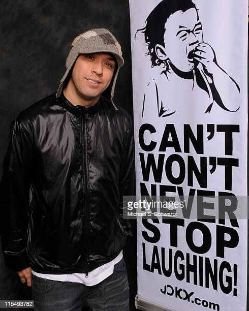 Comedian Jokoy poses at The Ice House on February 19 2009 in Pasadena California