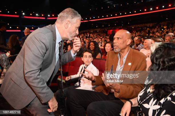 Comedian Jon Stewart and former NBA player Kareem AbdulJabbar attend The 2018 ESPYS at Microsoft Theater on July 18 2018 in Los Angeles California