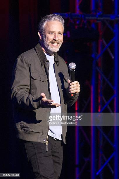 Comedian Jon Stewart at the 9th Annual Stand Up For Heroes Event presented by the New York Comedy Festival and the Bob Woodruff Foundation at Madison...