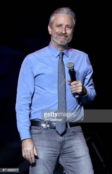 Comedian Jon Stewart attends the 11th Annual Stand Up for Heroes at The Theater at Madison Square Garden on November 7 2017 in New York City