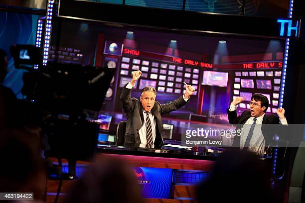 Comedian Jon Stewart host of Comedy Central's The Daily Show performs during a live recording on August 9 2011 in New York