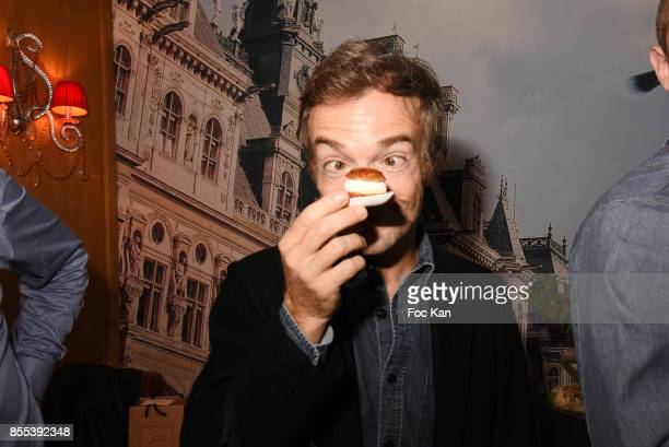 Comedian Jonathan Lambert attends the 'Apero Gouter' Cocktail Hosted by Le Grand Seigneur Magazine at Bistrot Marguerite on September 28 2017 in...