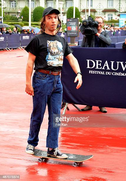 Comedian Jonathan Lambert plays roller boy during the 'Knock Knock' Red Carpet 41st Deauville American Film Festival at the CID on September 5 2015...