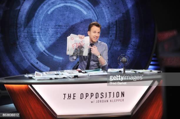 Comedian Jordan Klepper hosts the premiere of Comedy Central's The Opposition w/ Jordan Klepper on September 25 2017 in New York City