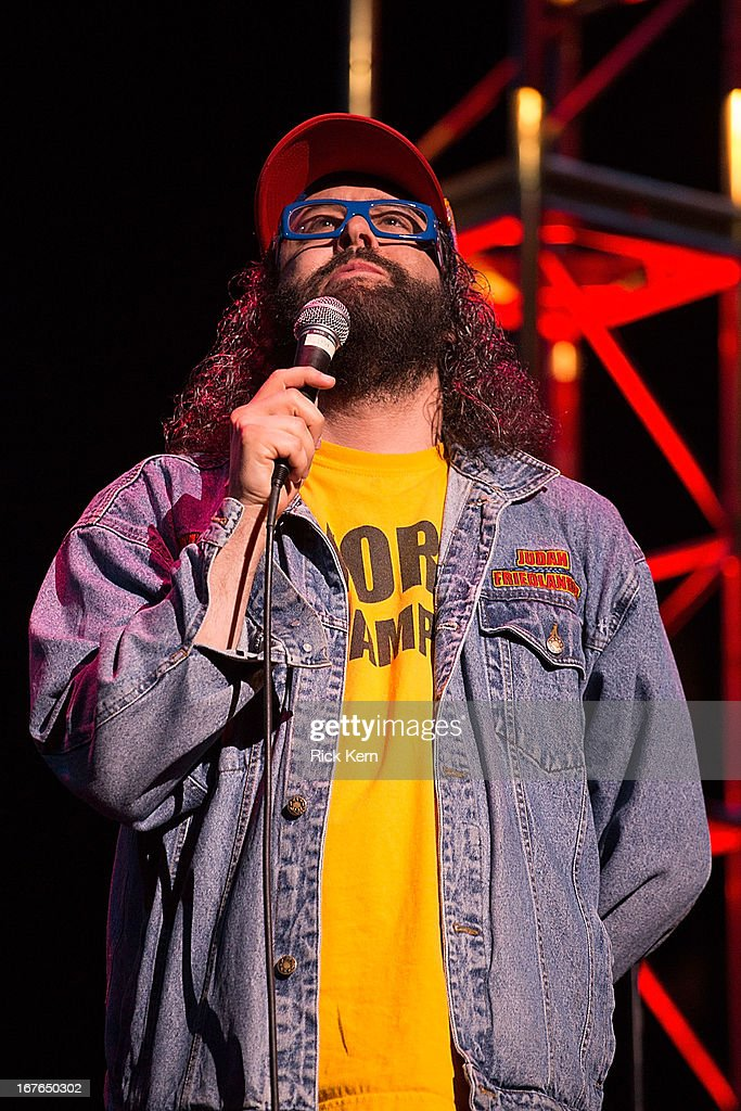 Comedian Judah Friedlander performs on stage during the Moontower Comedy Festival at the Paramount Theatre on April 26, 2013 in Austin, Texas.