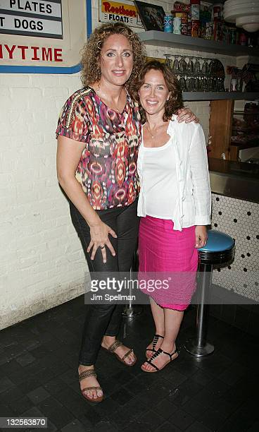 Comedian Judy Gold and girlfriend Elysa Halpern attends The Judy Show My Life As A Sitcom OffBroadway opening night after party at Big Daddy's on...