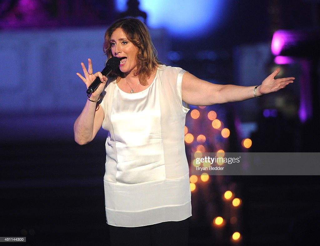 Comedian Judy Gold performs onstage during Logo TV's 'Trailblazers' at the Cathedral of St. John the Divine on June 23, 2014 in New York City.